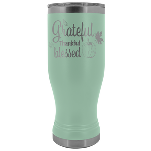 Grateful Thankful Blessed Tumbler - Online Christian Store