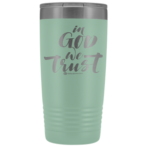 20oz In God We Trust Tumbler - Online Christian Store