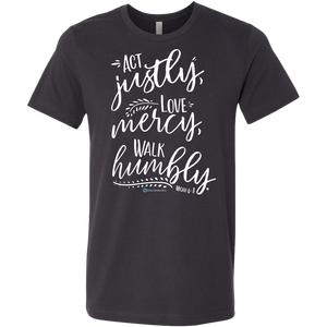 Men's Micah 6:8 Shirt - Online Christian Store