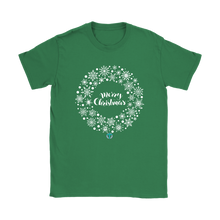 Load image into Gallery viewer, Women's Christmas Wreath T-Shirt - Online Christian Store