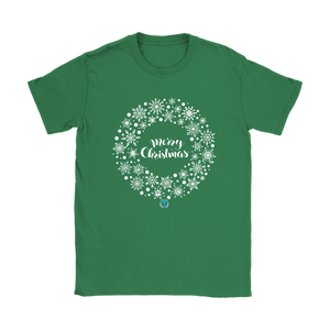 Women's Christmas Wreath T-Shirt - Online Christian Store