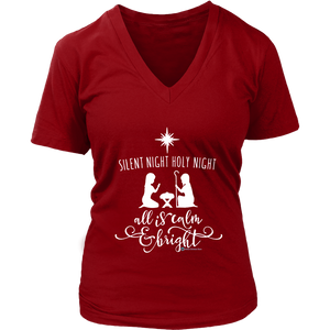 Women's Silent Night V-Neck