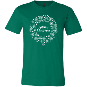 Men's Christmas Wreath T-Shirt - Online Christian Store