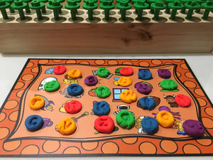 Playdough Mats - Alphabet Find