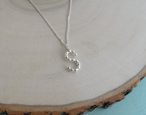 Personalised monogram sterling silver necklace