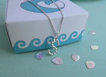 Load image into Gallery viewer, Personalised monogram sterling silver necklace
