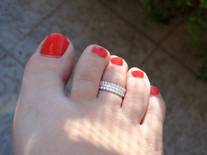 Toe ring for girl, Body jewelry for her