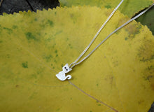 Load image into Gallery viewer, Tiny cat silver necklace for girl