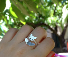 Load image into Gallery viewer, Wrap around silver animal ring for girls
