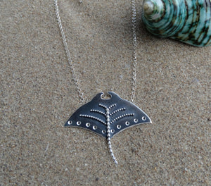 Stingray sterling silver necklace for her