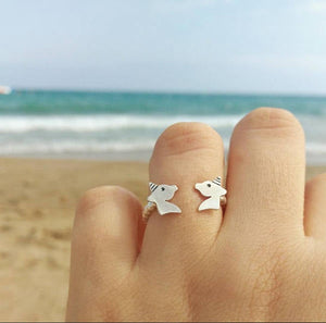 Unicorn sterling silver open ring for girl