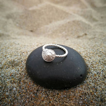 Load image into Gallery viewer, Seashell sterling silver ring for mermaid girl