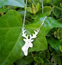 Load image into Gallery viewer, Reindeer sterling silver necklace for women