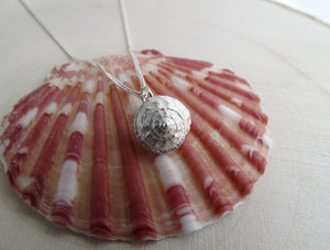 Seashell sterling silver jewelry set for girl