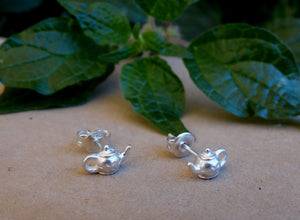 Teapot stud earrings for tea lovers gift