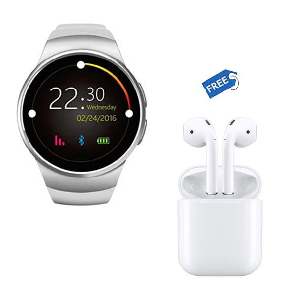 Y1 Smart Watch + Wireless EarPods (Dual Optical Sensors | Android & IOS Compatibility )