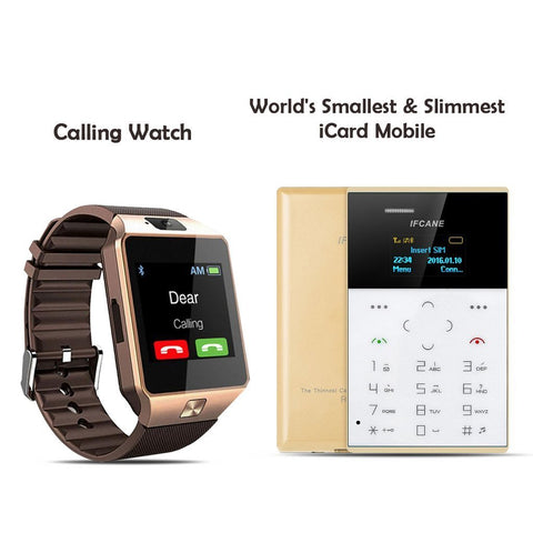 Buy Calling Watch With World's Smallest & slimmest Icard Mobile