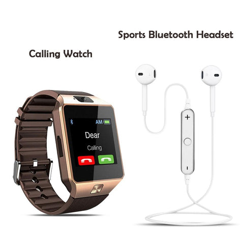 Calling Watch With Free Sports Wireless Headset