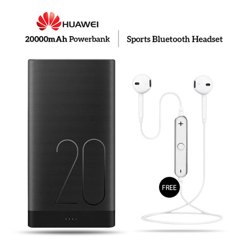Buy 20000mAh Power Bank With Free Sports Wireless Headset