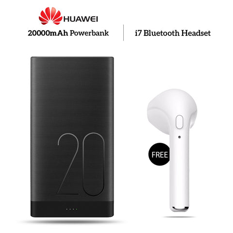 Buy HUAWEI 20000mAh Power Bank With Free I7 Bluetooth Headset
