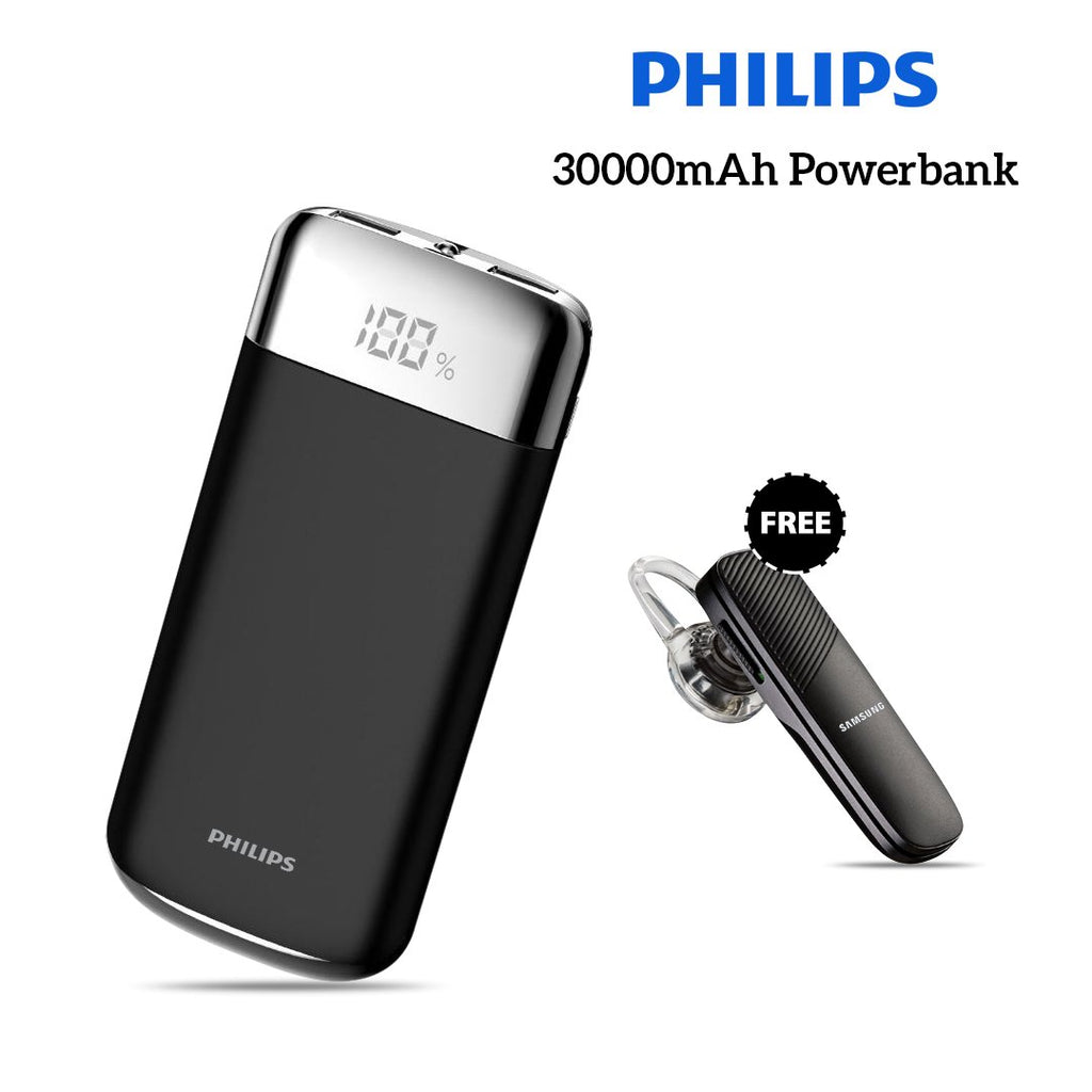 Buy Online Philips 30000mAh Power And Get Bluetooth free