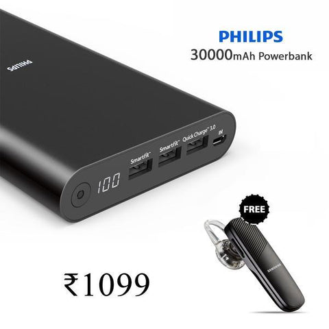 Buy Online 30000mAh Power And Get Bluetooth free