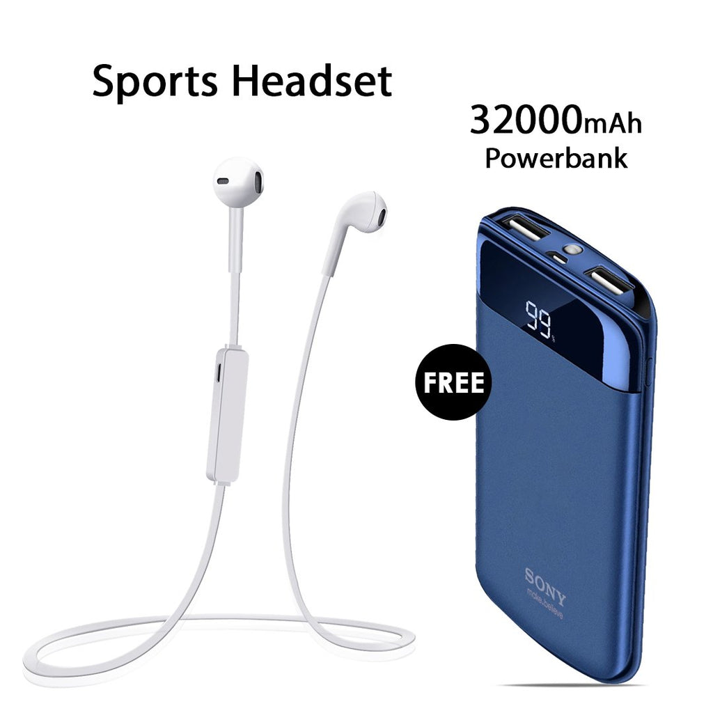 Buy Online Sports Headset & Get  32000mAh Power Bank Free