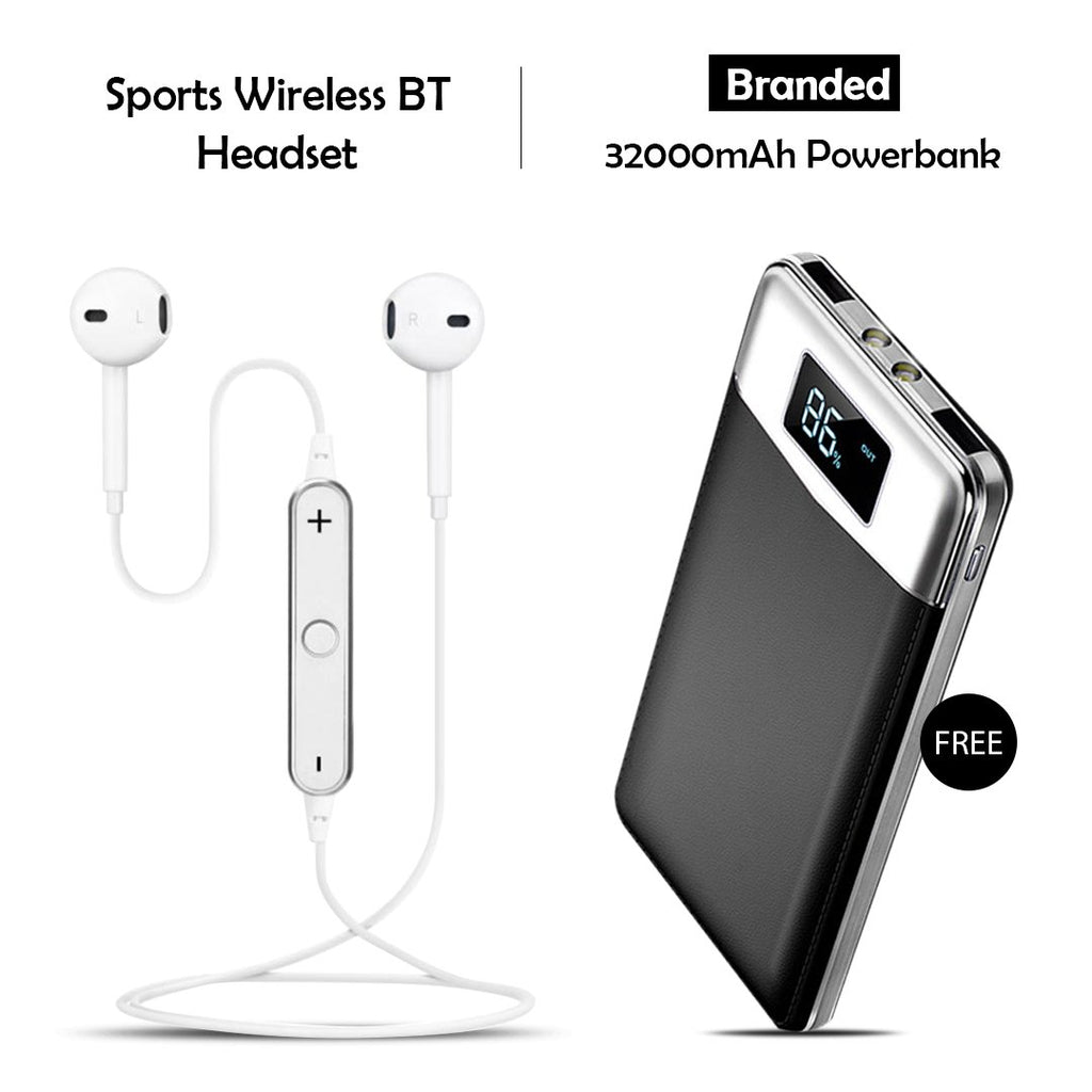 Buy Sports Wireless Headset Free 32000mAh Powerbank
