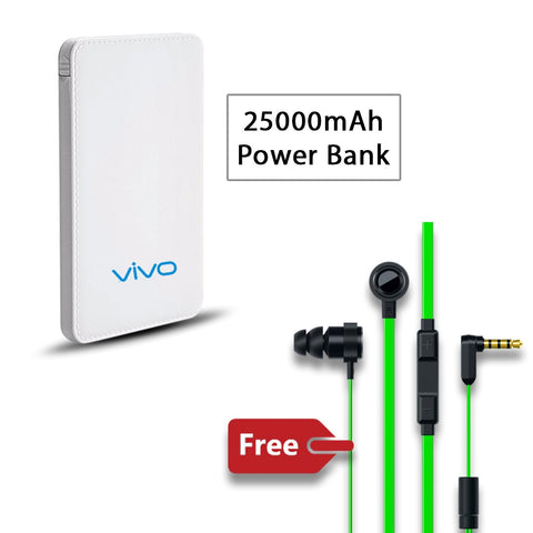 25000 mAh Power Bank with free Earphone