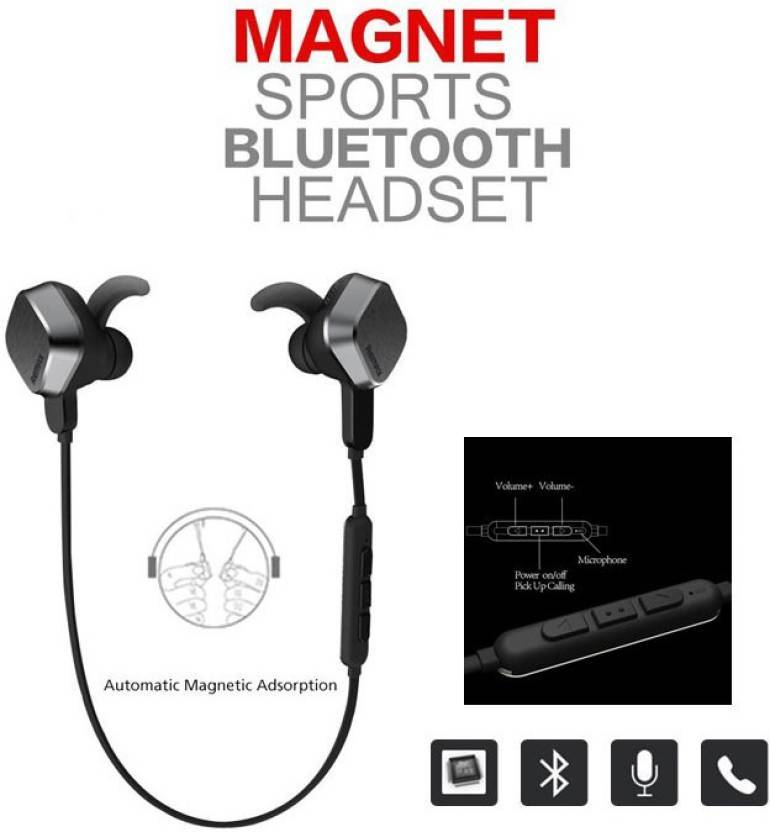 Samsung Magnetic Bluetooth Headset with Mic with free Power Bank 12000mAh