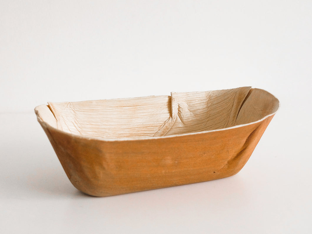 Extra Large Oval Palm Leaf Bowl | 22 x 12.5 x 6cm | 100 Pcs | Code. 5064