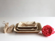Palm leaf compostable plates and bowls with cutlery for weddings events parties