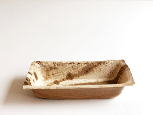 Small compostable amuse bouche palm leaf bowl 7x12cm