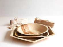 25 person palm leaf banquet plates bowls cutlery