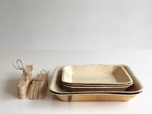 Large chef and caterer bundle of palm leaf plates and cutlery