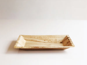 Medium Cuadra palm leaf rectangular plate 12x17cm