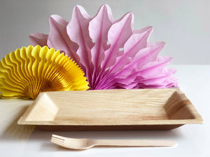 Large Cuadra 16x25cm palm leaf rectangular biodegradable plate