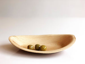 Medium ellipse palm leaf dessert bowl 19x13cm