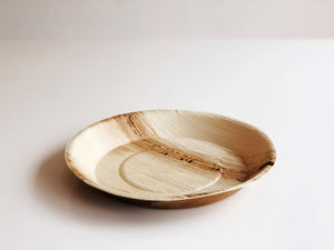 Large round palm leaf plate 22cm