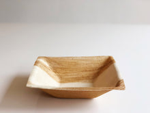 Medium Kheops square palm leaf bowl 16x16cm
