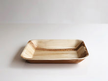 Large square palm leaf serving plate 24cm