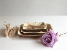 Palm leaf biodegradable plates and bowls with cutlery for weddings events parties
