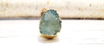 Dreaming of Druzy Green Ring