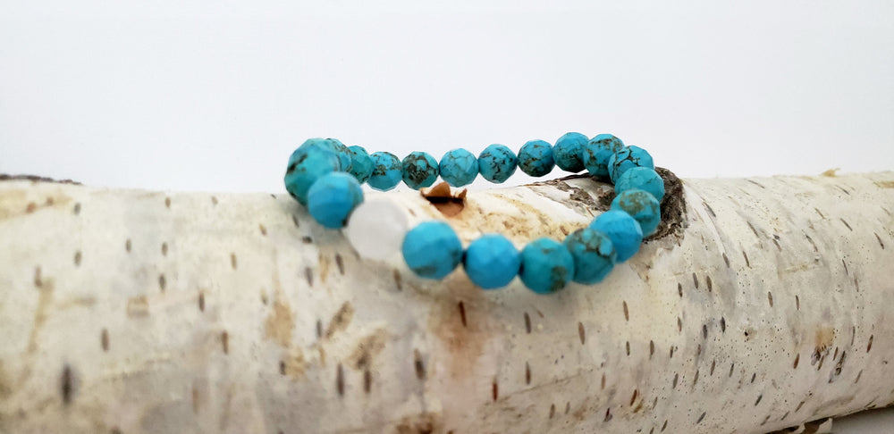 Turquoise with Tourmalined Quartz