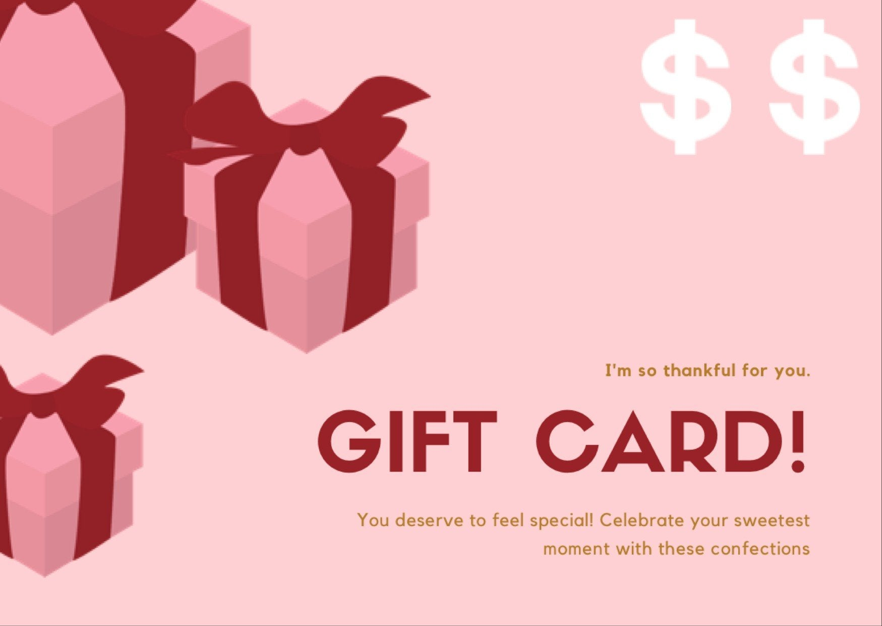 Gift Card Evelyn R. Cooke - Pastry Art