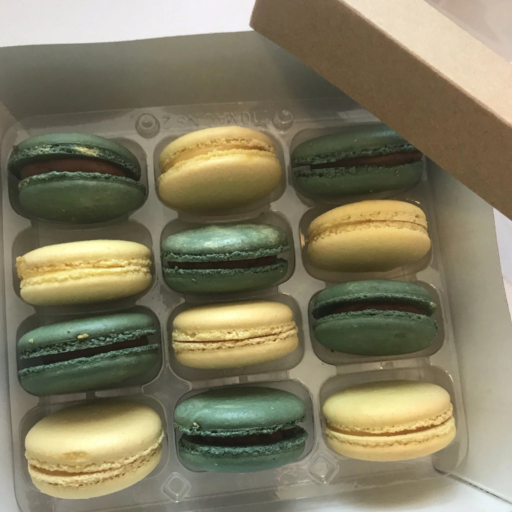 NEW: Lemon Curd AND Chocolate French Macarons (Box of 12) Evelyn R. Cooke - The #EvCooks Store