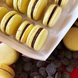 NEW! Chocolate Ganache French Macarons (Box of 12) Evelyn R. Cooke - The #EvCooks Store
