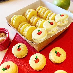 New! Cinnamon Apple Pie French Macarons (Box of 12) Evelyn R. Cooke - The #EvCooks Store