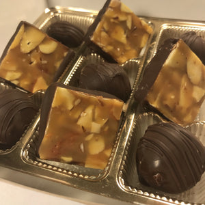 The Split Decision: Truffles and Almond Caramels Treat Box Evelyn R. Cooke - The #EvCooks Store