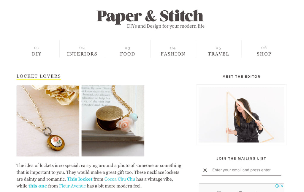 Press and mentions on Paper and stitch